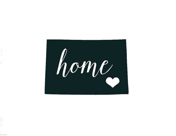 Colorado Home Die Cut Vinyl Decal