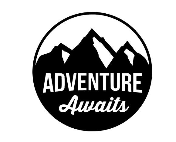 Adventure Awaits Die Cut Vinyl Decal Sticker