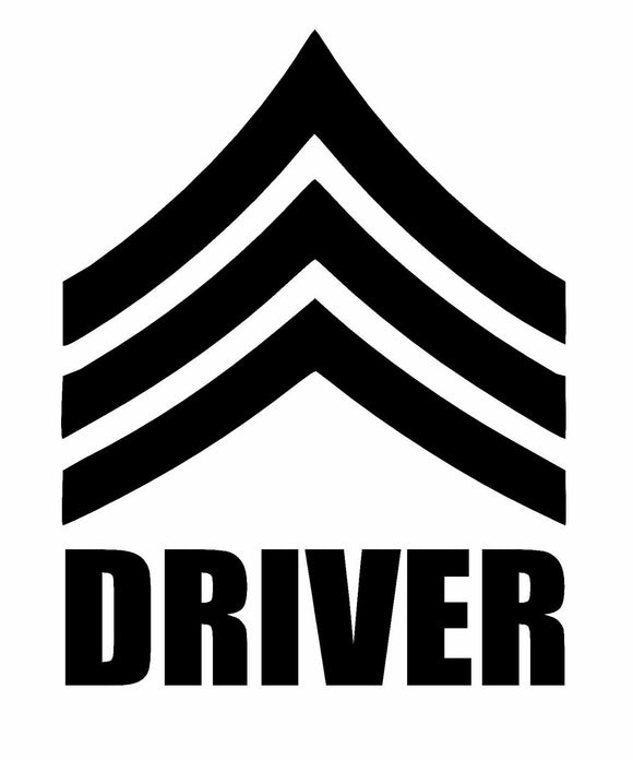 Jeep Sergeant Driver Die cut Vinyl Decal-Fun Fare Decals