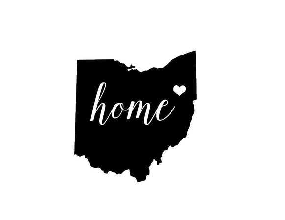 Ohio Home Die Cut Vinyl Decal-Fun Fare Decals