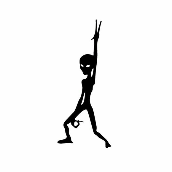 Alien Dance Vinyl Decal-Fun Fare Decals