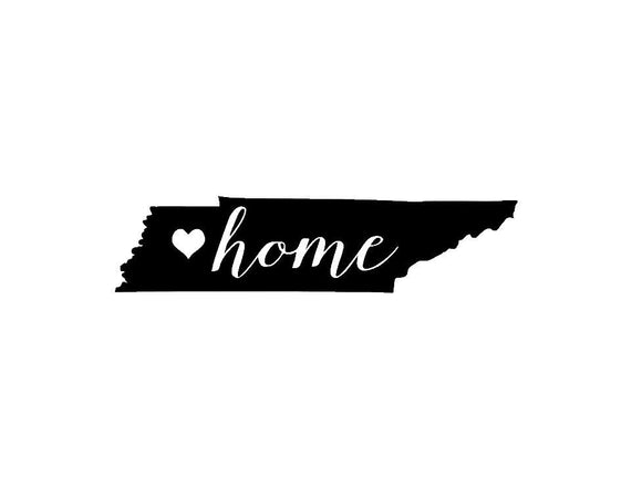Tennessee Home Die Cut Vinyl Decal-Fun Fare Decals