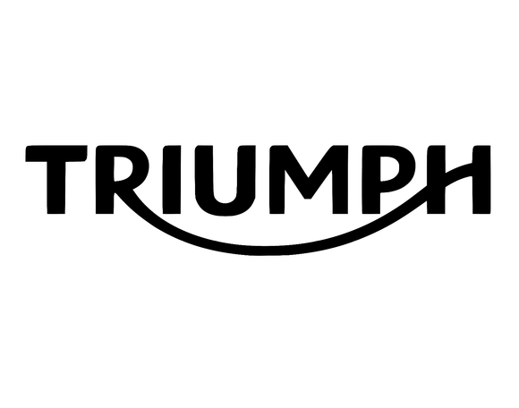 2x Solid Triumph die cut vinyl decal
