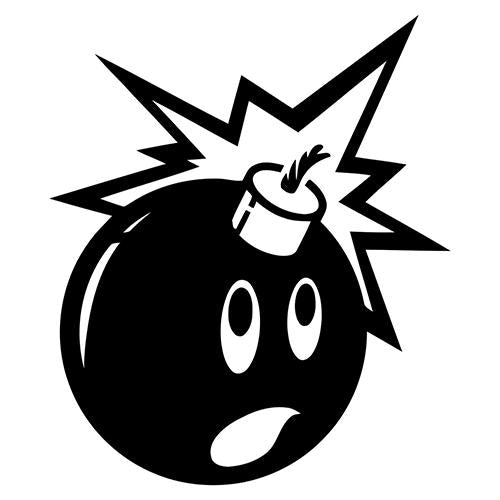 Adam and The Hundreds Bomb Vinyl Decal-Fun Fare Decals