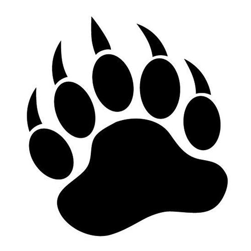 Bear Paw Die Cut Vinyl Decal-Fun Fare Decals