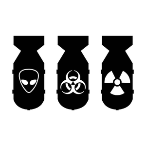 Bio Hazard Bombs Die Cut Vinyl Decal-Fun Fare Decals