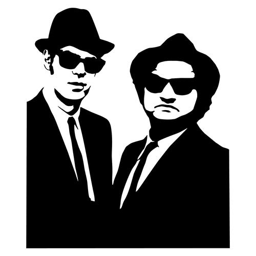 Blues Brothers Die Cut Vinyl Decal-Fun Fare Decals