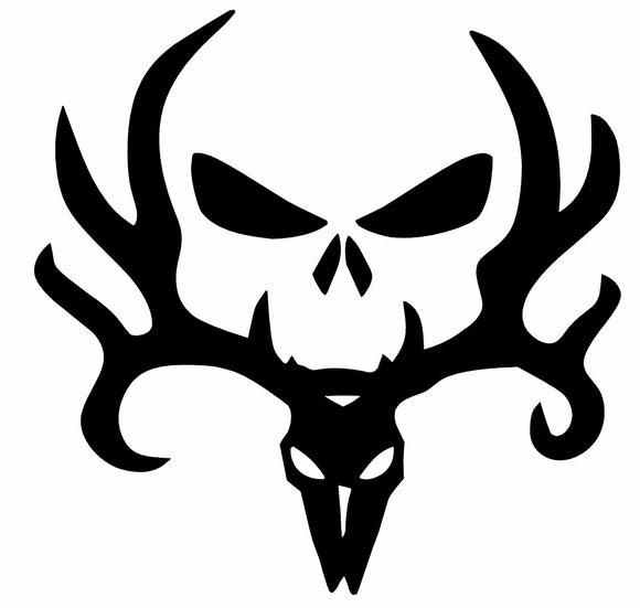 Deer / Elk Antler Skull Vinyl Decal-Fun Fare Decals