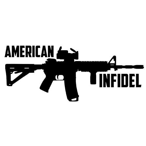 AMERICAN INFIDEL Vinyl Decal-Fun Fare Decals