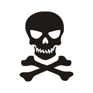 Skull n Crossbones Vinyl Decal-Fun Fare Decals