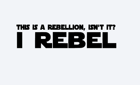 This is a Rebellion Vinyl Decal