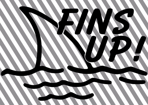 FINS UP! Jimmy Buffet Vinyl Decal