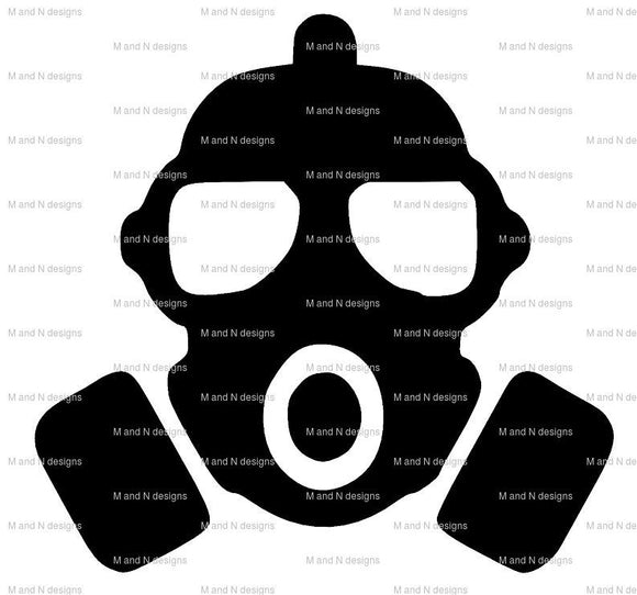 Gas Mask Vinyl Sticker-Fun Fare Decals