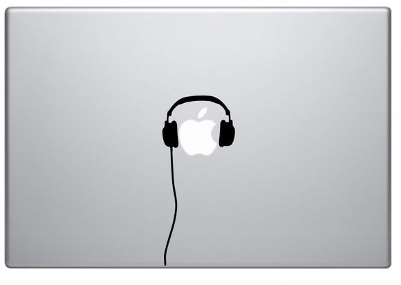Headphones Decal for Macbook Vinyl Sticker