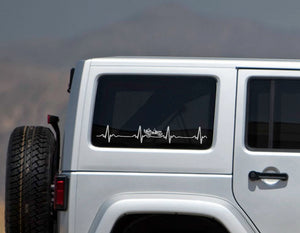 JEEP WRANGLER HeartBeat EKG Decal-Fun Fare Decals