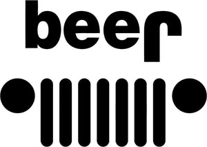 Beer – JEEP Vinyl Decal-Fun Fare Decals