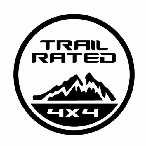 TRAIL RATED Die Cut Vinyl Decal