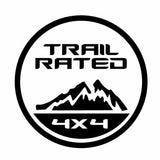 Jeep TRAIL RATED Die Cut Vinyl Decal-Fun Fare Decals