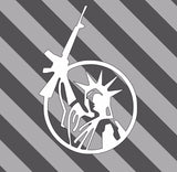 Lady Liberty Weapon Decal-Fun Fare Decals