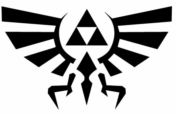 Legend of Zelda Hyrule Crest TriForce Vinyl Sticker-Fun Fare Decals