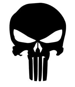 Punisher Skull Vinyl Decal-Fun Fare Decals