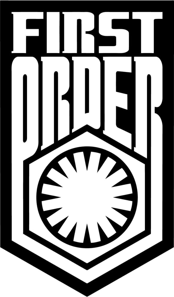 Star Wars FIRST ORDER Emblem Badge Vinyl Decal-Fun Fare Decals