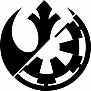 Star Wars Rebel Alliance Galactic Empire Vinyl Decal