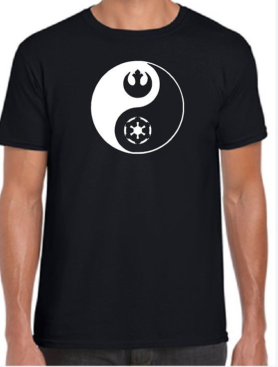 Star Wars Ying Yang IRON ON VINYL