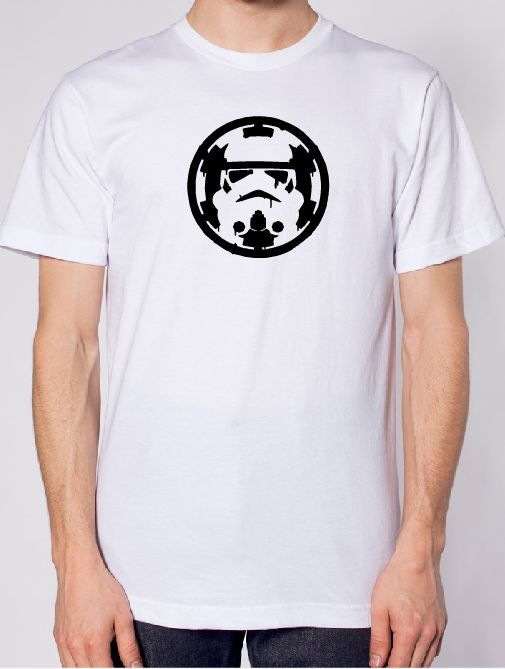 Storm Trooper Over Empire Iron On Vinyl-Fun Fare Decals