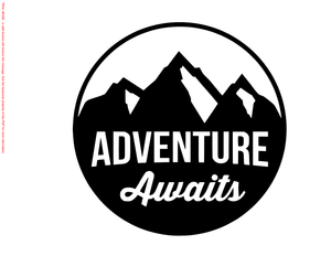 Adventure Awaits Die Cut Vinyl Decal FD2110