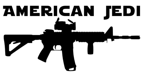 American Jedi vinyl decal-Fun Fare Decals