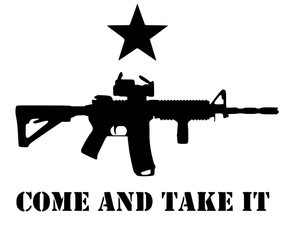 Come and Take It AR15 Vinyl Decal-Fun Fare Decals
