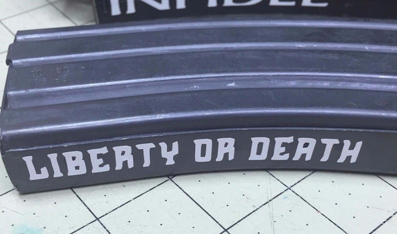 Liberty or Death Decal-Fun Fare Decals