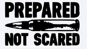 Prepared not Scared AR15 Decal-Fun Fare Decals