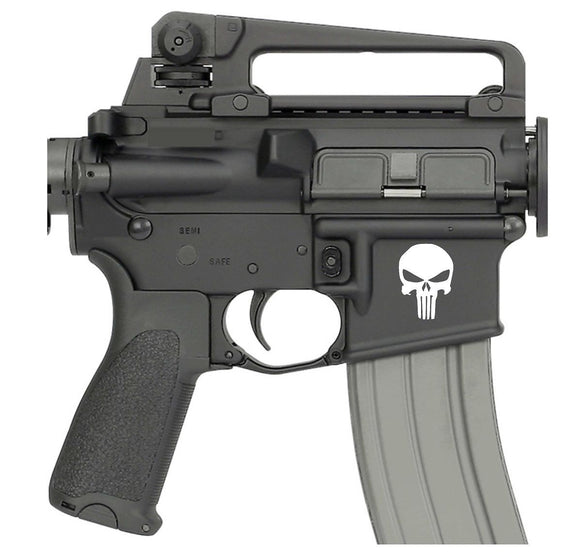 PUNISHER AR15 Magwell Decal