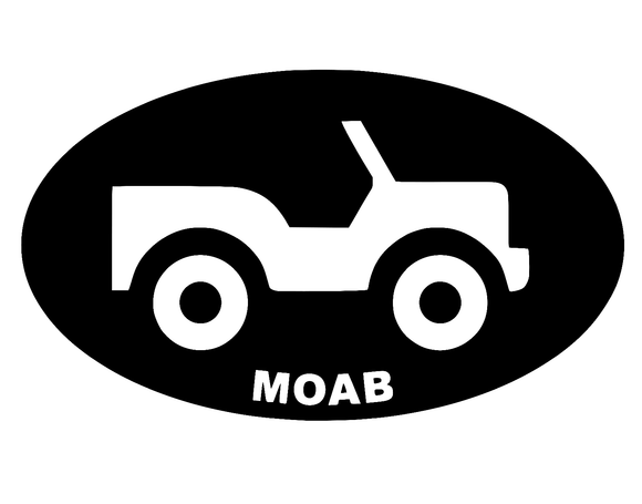 Jeep MOAB Die cut Vinyl Decal