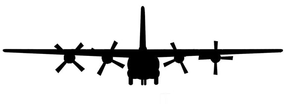C 130 Plane Vinyl Wall Decal-Fun Fare Decals