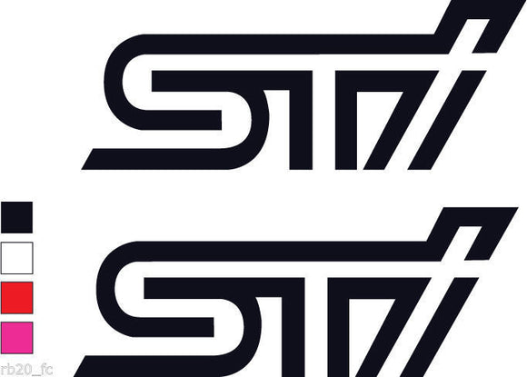 2X STI Logo Decal Sticker/Vinyl-Fun Fare Decals