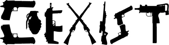 Coexist Weapon Decal-Fun Fare Decals
