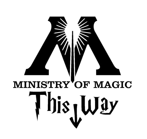 Harry Potter Ministry of Magic Vinyl Decal-Fun Fare Decals
