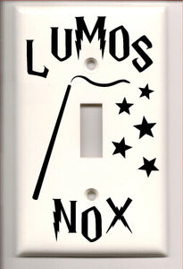 Harry Potter Lumos Nox Light Switch Cover Decal-Fun Fare Decals