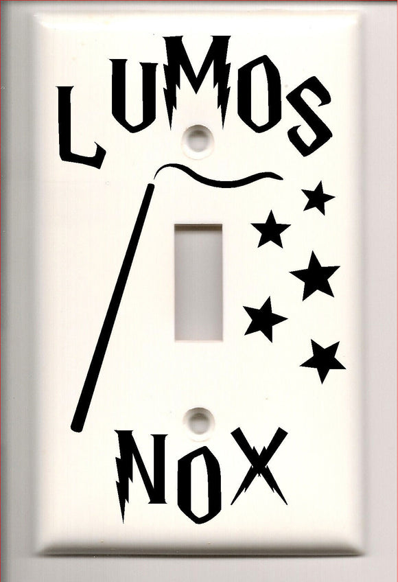 Harry Potter Lumos Nox Light Switch Cover Decal