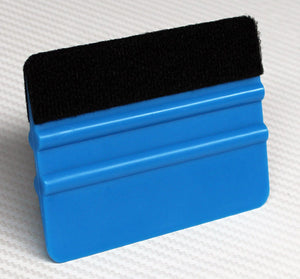 Blue 4 in Poly Blend Felt Lined Squeegee