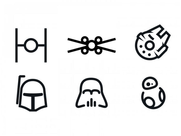 Star Wars Minimal Vinyl Decal Set-Fun Fare Decals