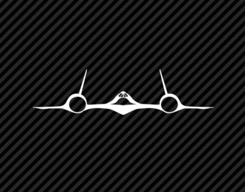 SR-71 Blackbird – CIA A12 Vinyl Decal-Fun Fare Decals