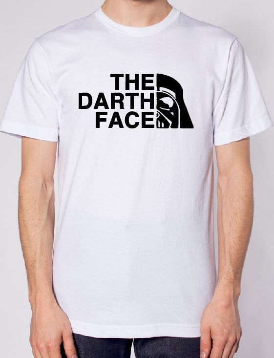 Star Wars The Darth Face Logo Iron on Vinyl