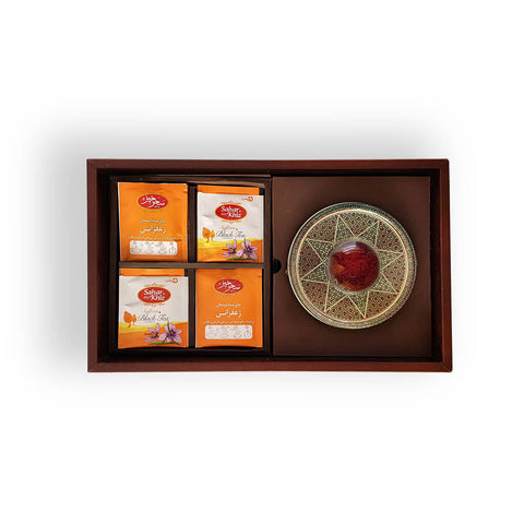 Luxury Leather Gift Premium Red Persian Saffron Package (50 grams)