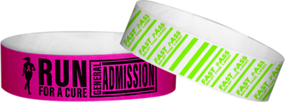 Tyvek Printed Wristbands