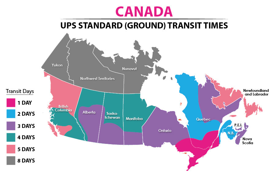 Canada Ground Shipping Transit Times