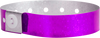 "A Plastic 3/4"" x 10"" L-Shape Holographic Snapped Purple wristband"
